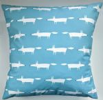 Cushion Cover in Scion Mini Mr Fox Turquoise Blue 16""